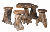 Root Pub Table & Stool Set