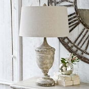 Wood Base Table Lamp