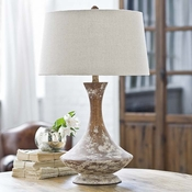 Wood Vessel Lamp