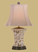 PORCELAIN SCALLOP VASE LAMP
