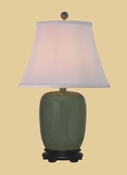 CELADON GINGER JAR LAMP
