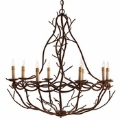 Iron Twig Chandelier