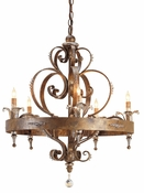 Gold Wrought Iron Chandelier