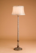 Antiqued Silver Floor Lamp
