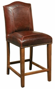 Stitched Leather Counter & Bar Stool