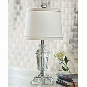 Small Crystal Urn Lamp