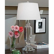 Tall Crystal Urn Lamp