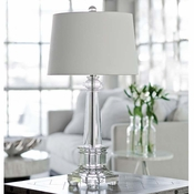 Crystal Obelisk Table Lamp