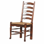 Weathered English Ladderback Dining Chair