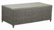 Outdoor Wicker Coffee Table Ottoman