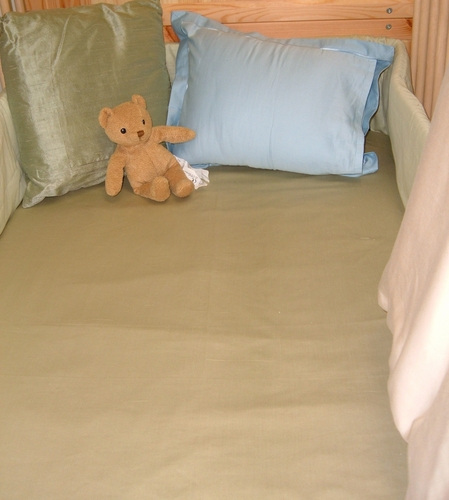 Organic Cotton Superfine 340 Thread Count Portable Crib Fitted Sheet