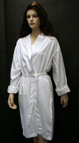 100% Organic Knee Length Robes with Sleeves