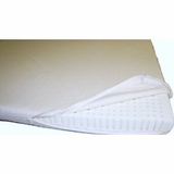 "All Natural Latex Organic Cotton Covered Mattress Topper 2"" inch thick- Medium Firmness"