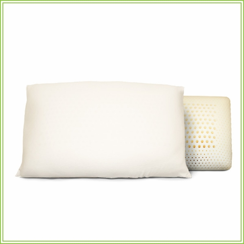 All Natural Dual Zoned Latex Pillow with Organic Cotton Covering 2-PACK