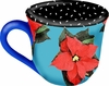 Poinsettia/Blue - Cup