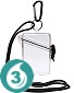 Clear Waterproof Card Case w/Lanyard