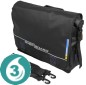 Roll-Top Messenger Bag - Black