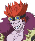 One Piece Captain Eustass Kidd Custom Styled Cosplay Wig