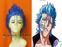 Bleach Grimmjow Blue Cosplay Wig