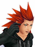 Kingdom Hearts II Organization XIII Axel Custom Styled Cosplay Wig