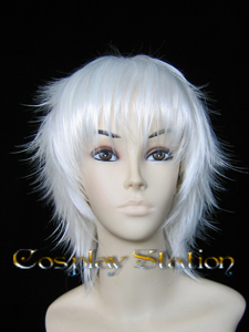 White Layered Cosplay Wig