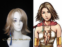 Final Fantasy Yuna Brown Cosplay Wig