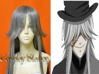 Black Butler Kuroshitsuji Cosplay Undertaker Custom Made Silver Cosplay Wig