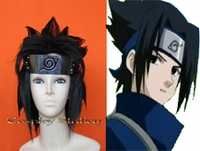 Naruto Uchiha Sasuke Black Custom Stylyed Cosplay Wig