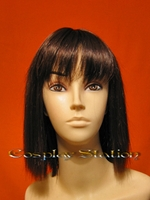 Straight Medium Dark Brown Cosplay Wig