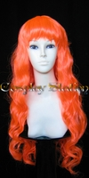 30 Inches Long Orange Red Cosplay Wig