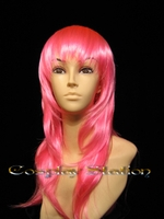 "22"" Inches Long Wavy Pink Cosplay Wig"