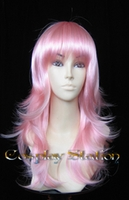 20 Inches Wavy Pink Cosplay Wig