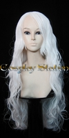 32 Inches Long Wavy White Cosplay Wig