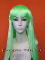 Long Green Cosplay Wig
