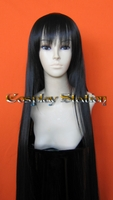 "40"" SUPER LONG BLACK Straight Cosplay Wig"