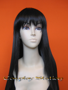 "33"" Long Black Cosplay Wig"