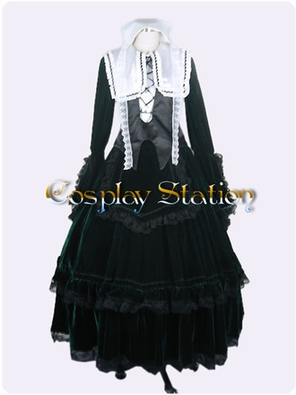 Rozen Maiden Suiseiseki Lolita Cosplay Costume_Latest Design!