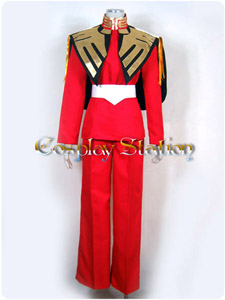 Gundam 0093 Char Aznable Cosplay Uniform Costume