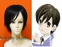 Ouran High School Host Club Cosplay Haruhi Fujioka Black Cosplay Wig