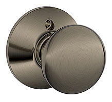 Schlage / Plymouth Knob / <U>Half Dummy</U> / Antique Pewter / F170PLY 620