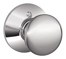 Schlage / Plymouth Knob / <U>Half Dummy</U> / Bright Chrome / F170PLY 625