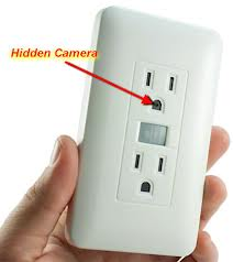 Electrical Outlet Motion Activated Hidden Camera / Spy Camera w/ built in DVR