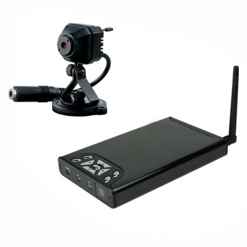 Tiny Wireless Pinhole Spy Camera with Motion Activated DVR