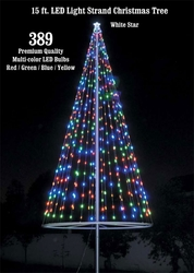 Flagpole Christmas Tree Kit - Multicolor