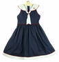 NEW Will'Beth Navy Dotted Sailor Dress