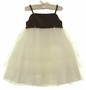 NEW Sarah Louise Brown Satin and Ivory Tulle Ballerina Dress