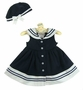 NEW Rare Editions Navy Sleeveless Sailor Dress with White Anchor Buttons