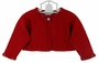 NEW Sarah Louise Red Bolero Sweater with Sparkly Trim