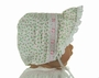 NEW Rosebud Print Bonnet with Eyelet Face Ruffle