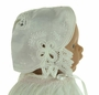 NEW Keepsake-Hanky Bonnet with Battenburg Lace Trim